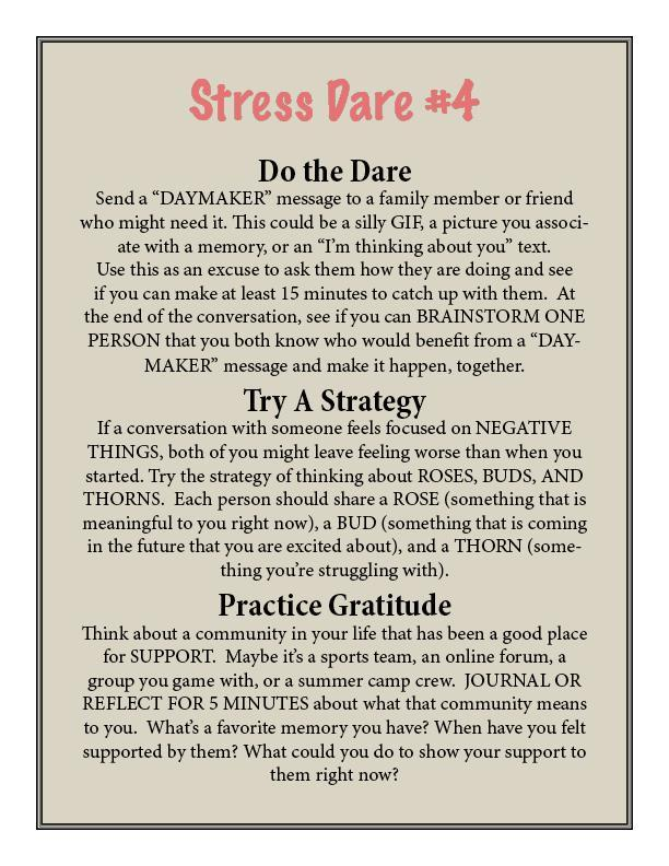 Character Counts Stress Dare #4