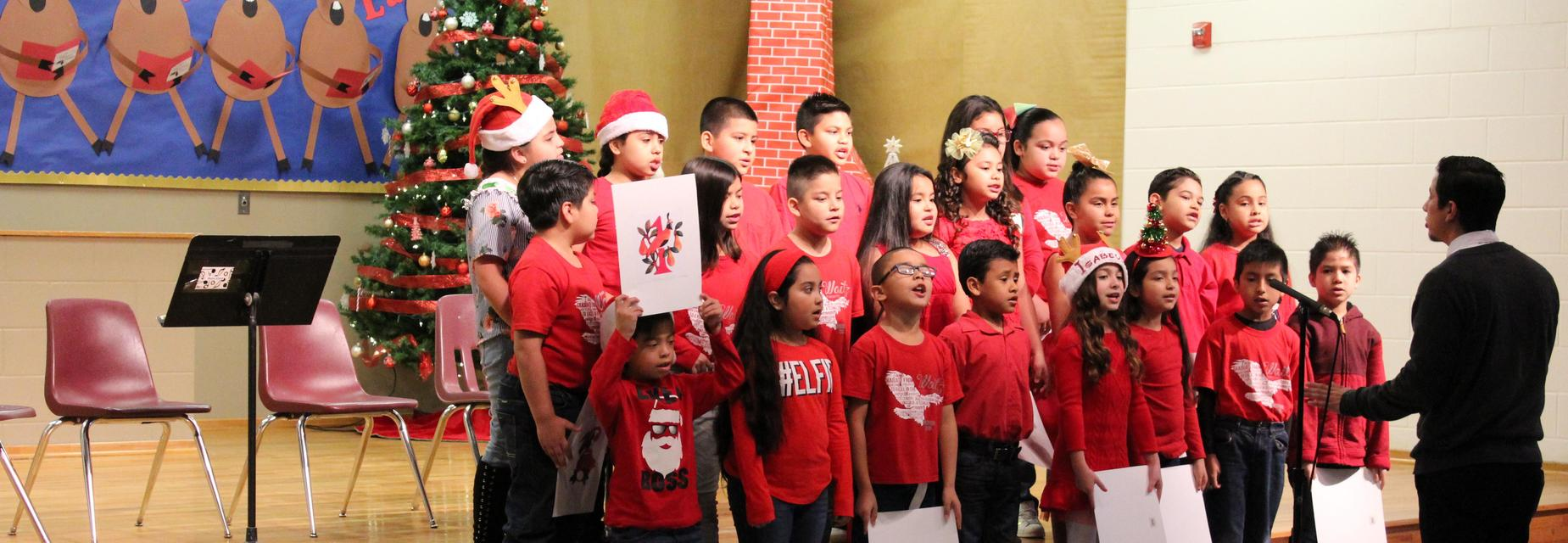 Choir kids performing the 12 Days of Christmas