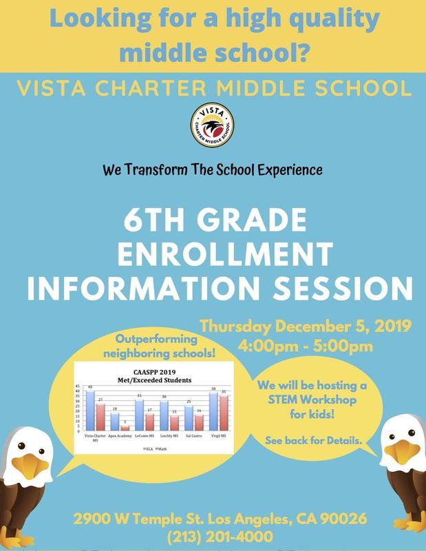 VCMS Enrollment session flyer