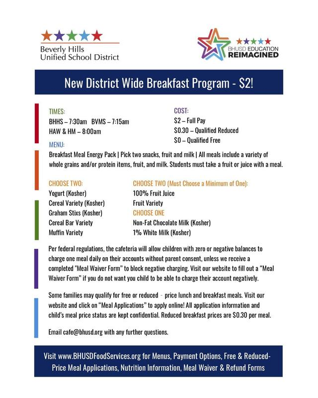 Get to School Early for our New Breakfast Program! Featured Photo