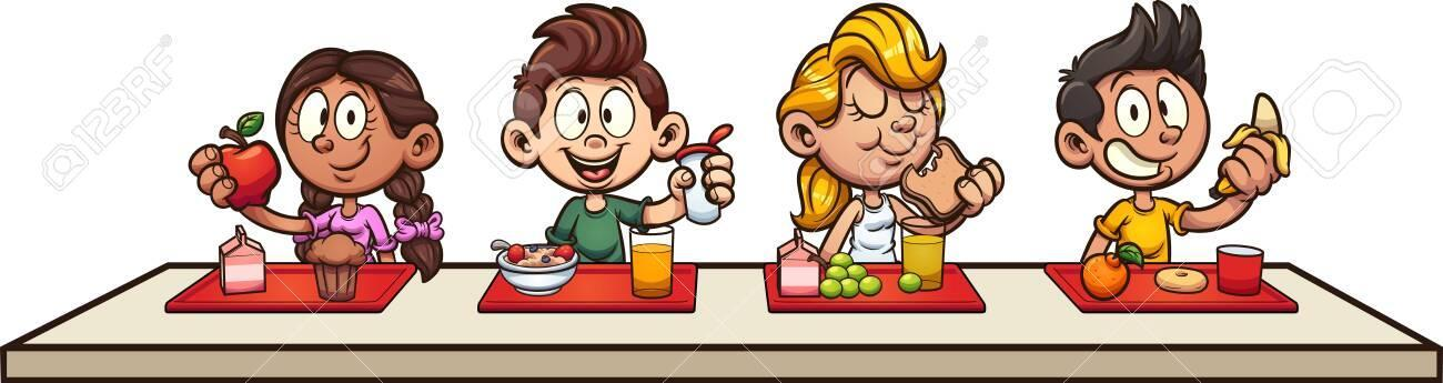 Kids Eating Lunch