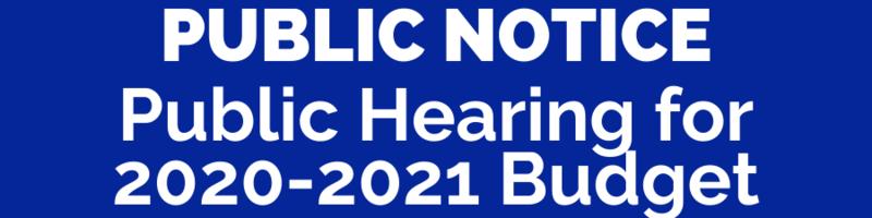 Notice: Public Hearing about Pullman Public Schools 2020-2021 Budget Thumbnail Image