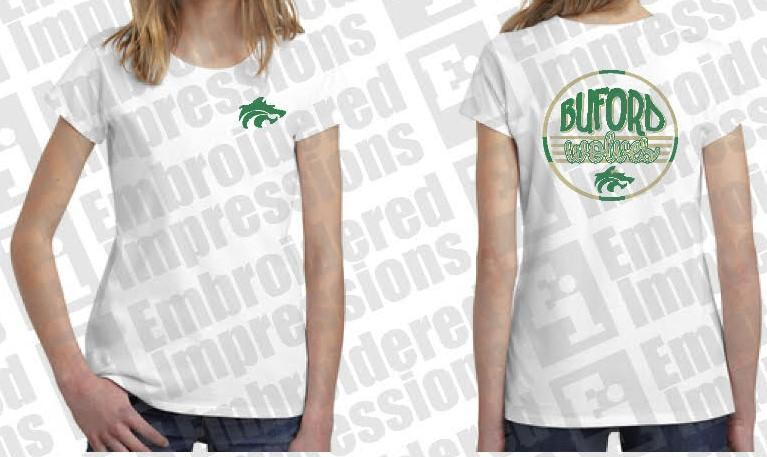 White Buford Wolves Tee