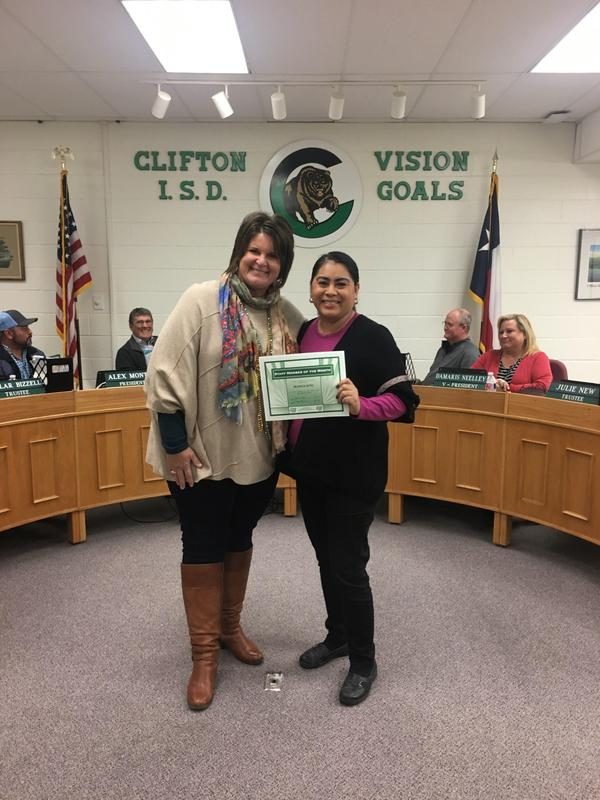 November Staff Member of the Month Blanca Soto