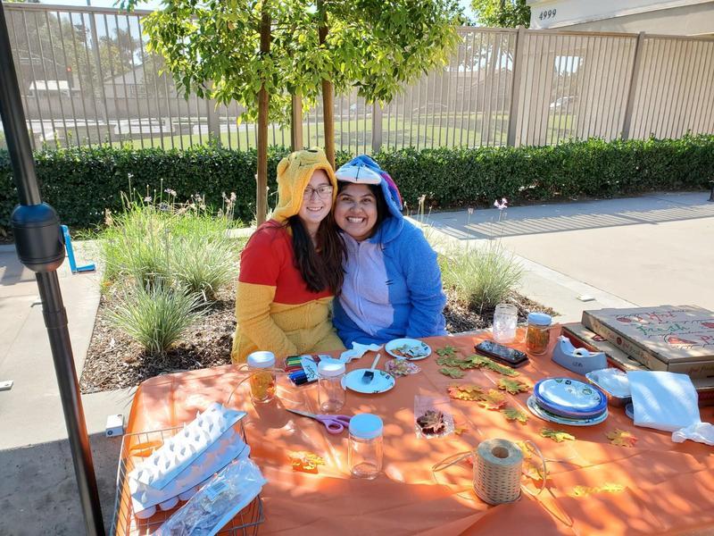 Students at Pizza and Pumpkins