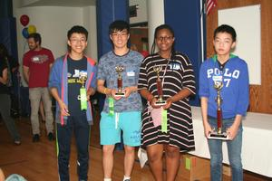 Millburn students with trophies
