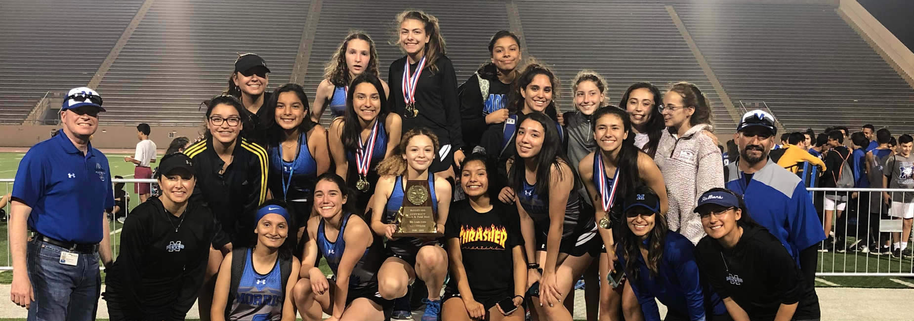 8th Girls Track - District Champions