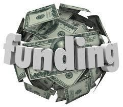 Picture stating the word funding