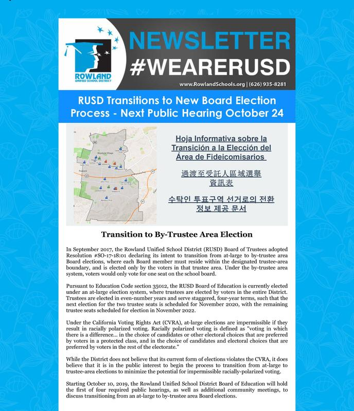 RUSD News: New By-Trustee Election Process: Next Public Hearing Oct. 24 Thumbnail Image