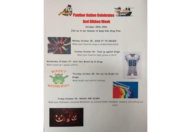Red Ribbon Week Information Poster