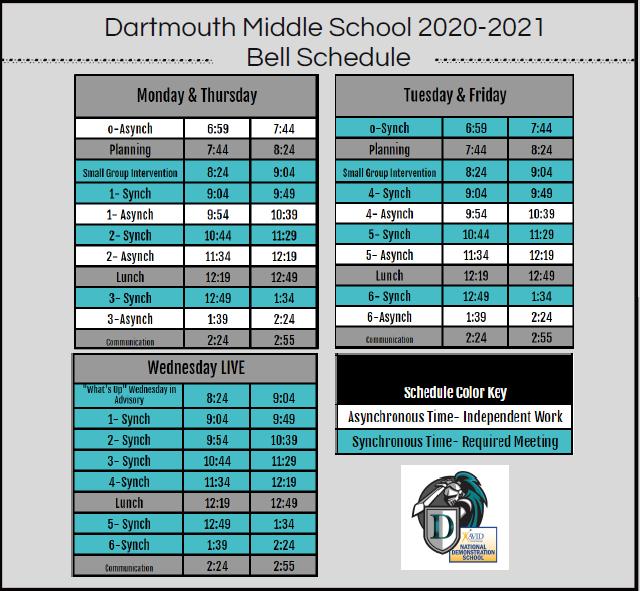 2nd Semester Bell Schedule