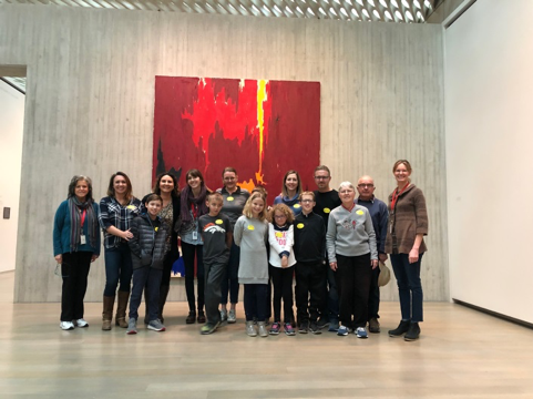 students and parents at Clyfford Stills Museum