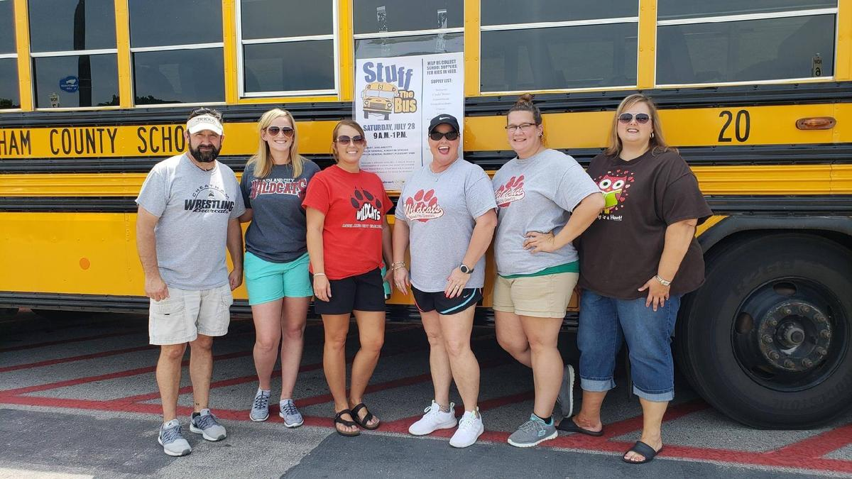 The Cheatham County School District hosted a Stuff the Bus school supply drive in August 2018.