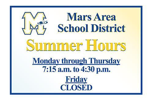 Mars Area School District Summer Hours