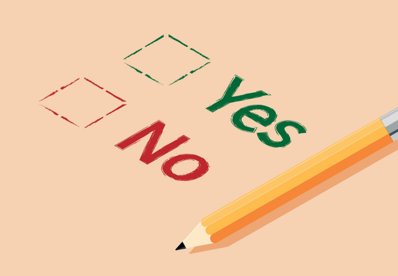 Picture of a Yes/No Ballot