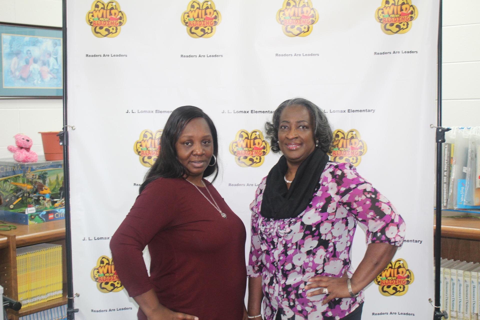Ms Thomas, Media Clerk and Mrs. Sermons, Media Specialist
