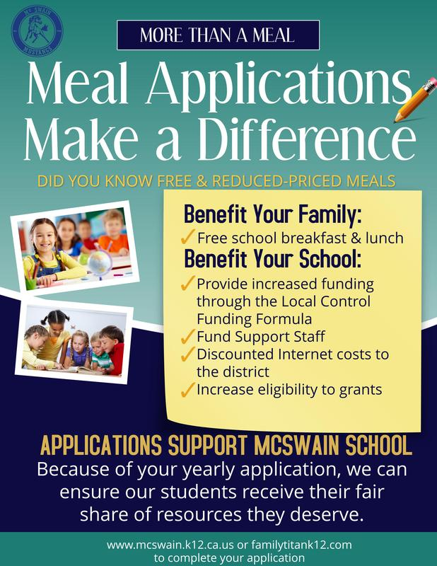 Lunch application flyer