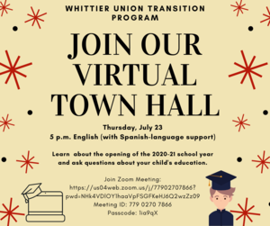Transition Program Town Hall