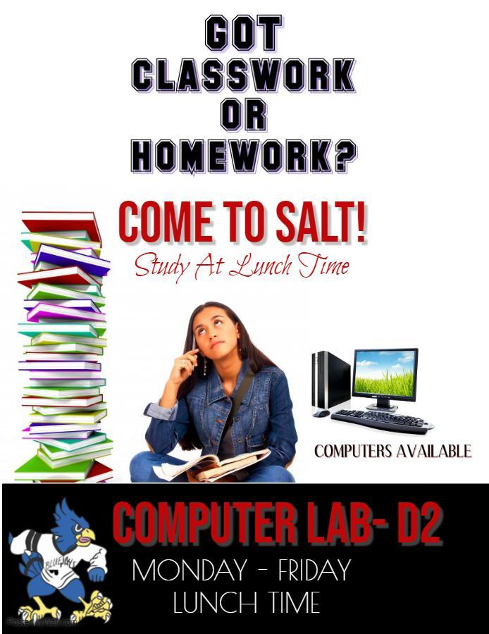 Study At Lunch Time Program Flyer