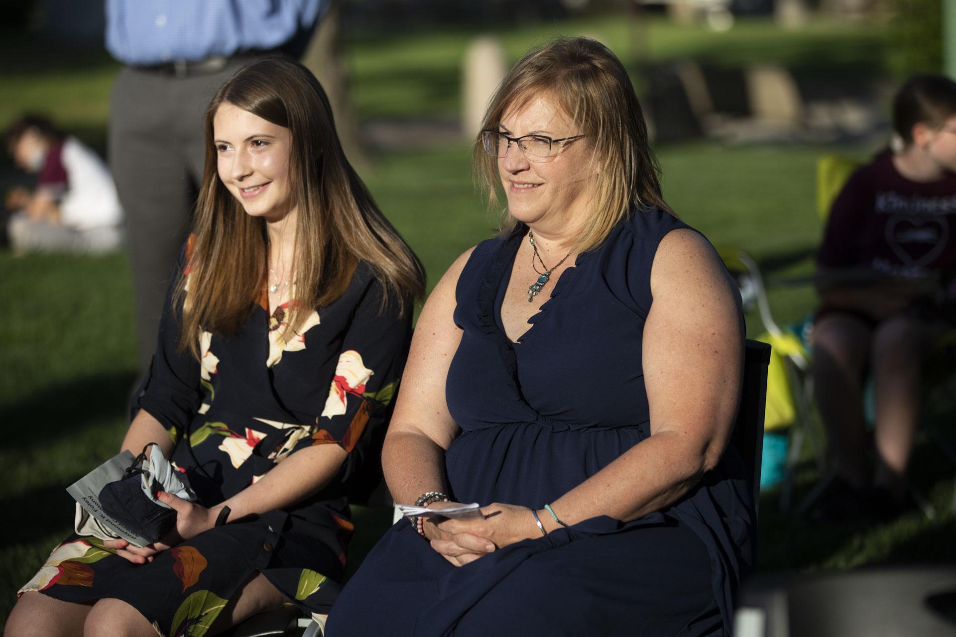 Jill Mahoney listening to Foley ceremony