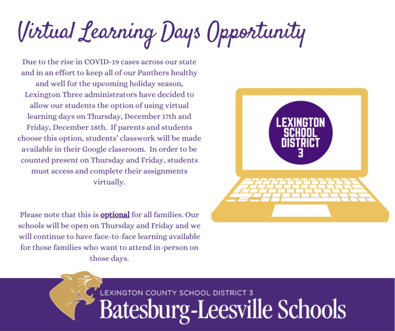 Virtual Learning Days Opportunity