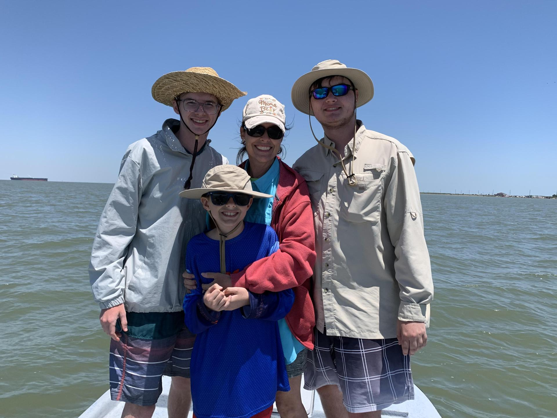 Bay fishing with my boys on Mother's Day - one of my favorite things to do!