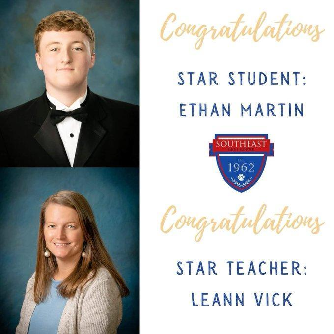 2021 SEHS Star Student and Teacher