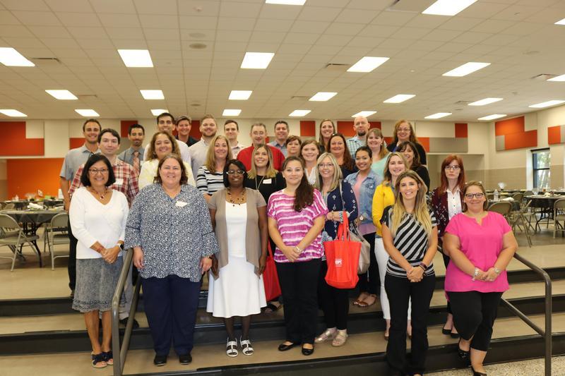 Group of teachers posing for photo