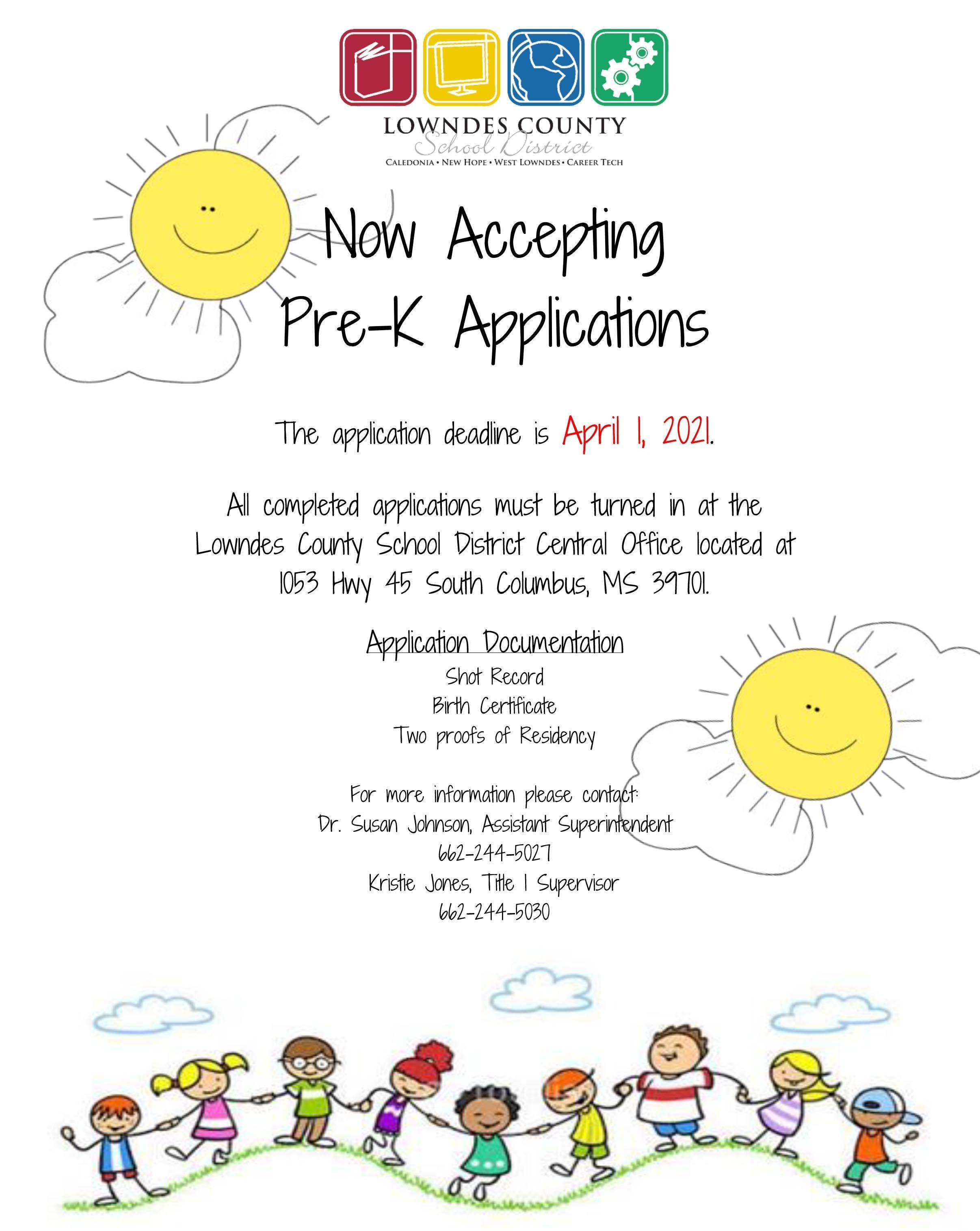 prek application flyer