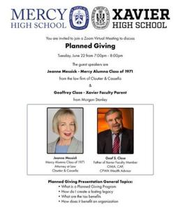 mercy xavier planned giving