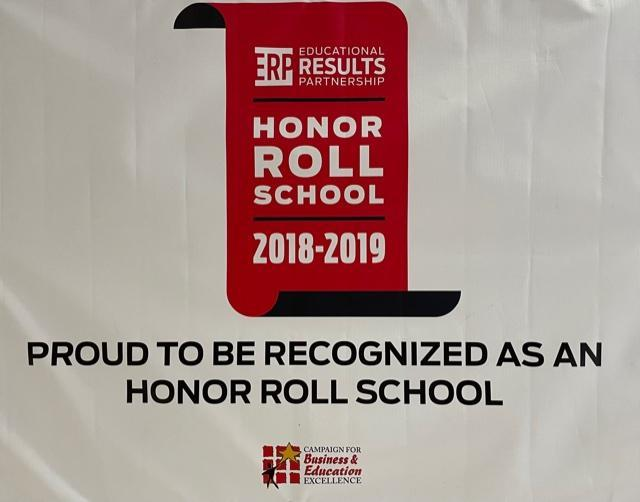 Honor roll Banner from 2018-19