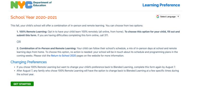 School Year 2020-21 Preference Sheet