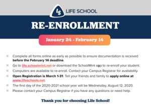 Re-Enrollment 2020