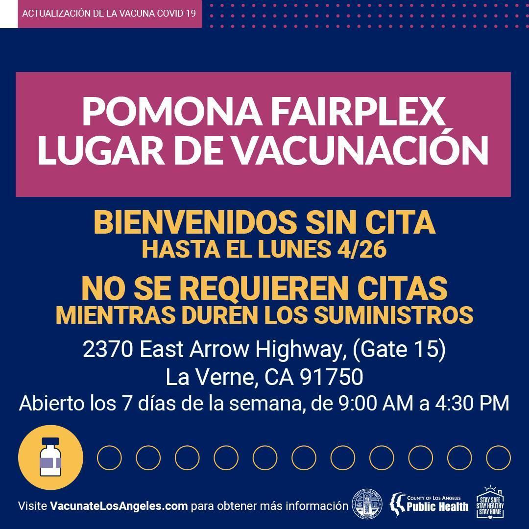 Fairplex Vaccine image Spanish text