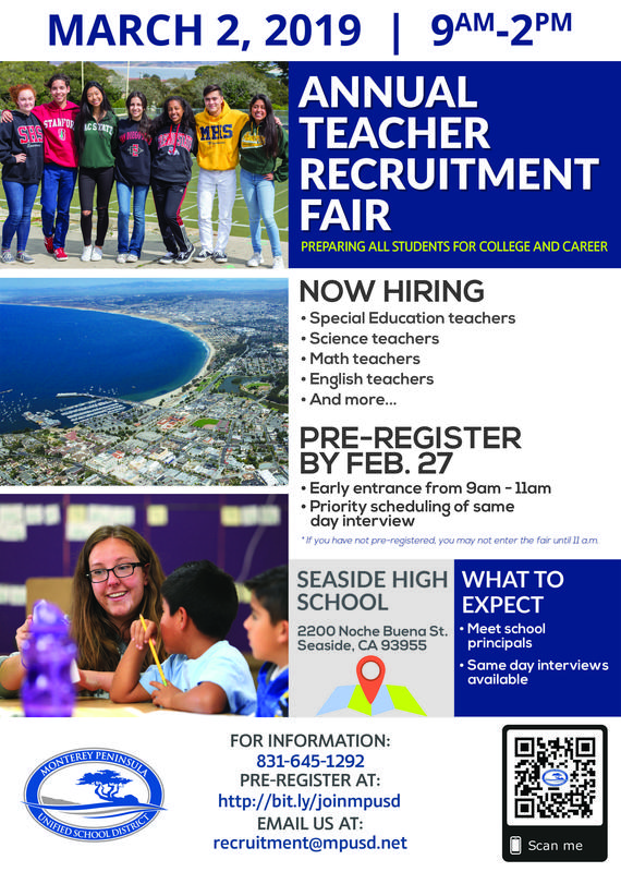 Annual Teacher Recruitment Fair March 2 Flyer