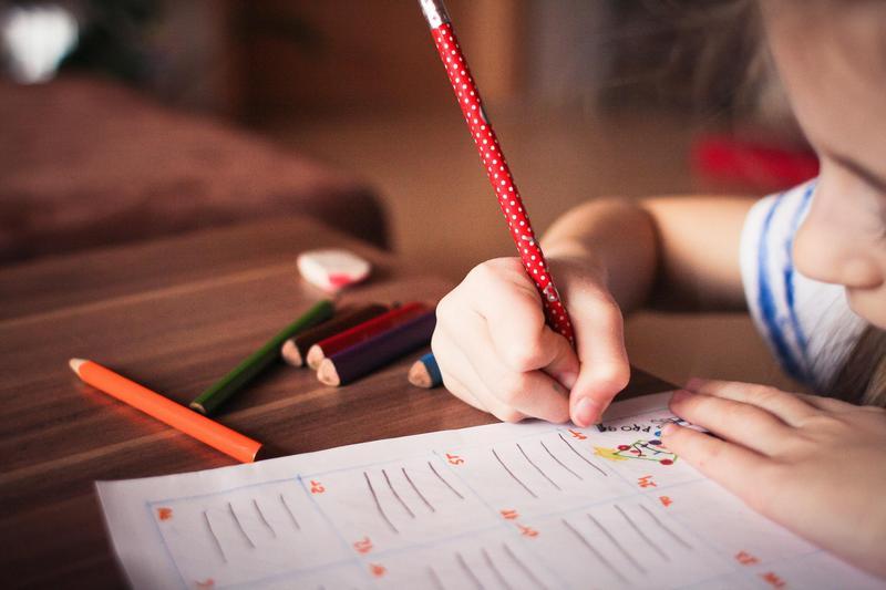 school age child working