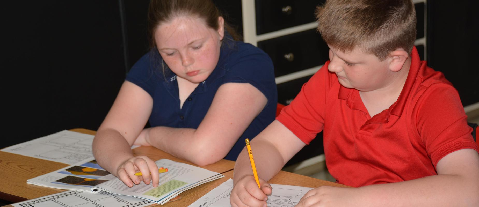 two students working collaboratively
