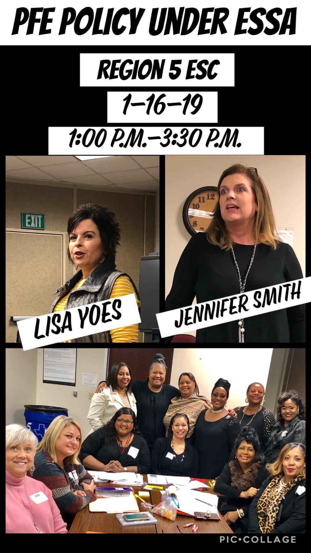 Lisa Yoes and Jennifer Smith, Region 5 ESC