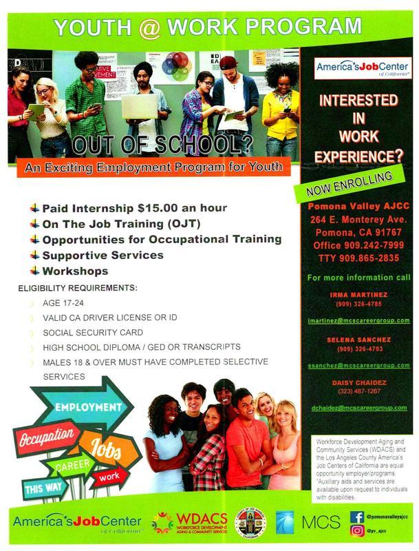 Youth @ work program