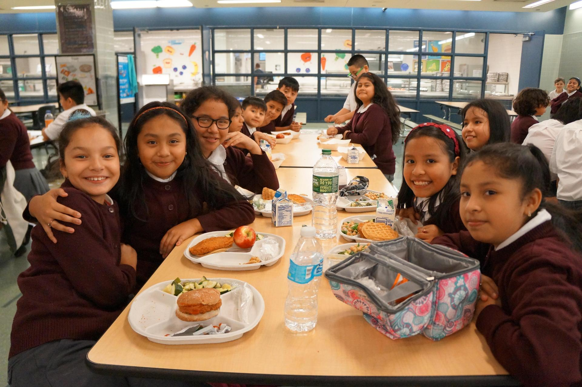 Scholars in Cafeteria