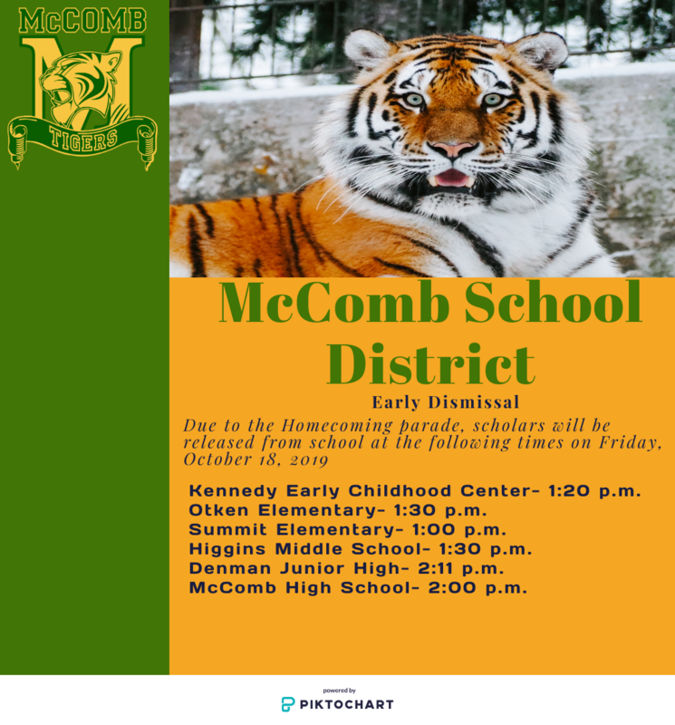 McComb School District Early Dismissal Friday, October 18, 2019  #It'sComeBackTime