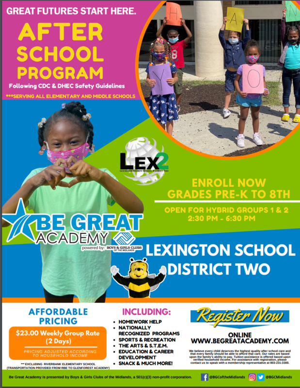 Flyer for Be Great Academy picture