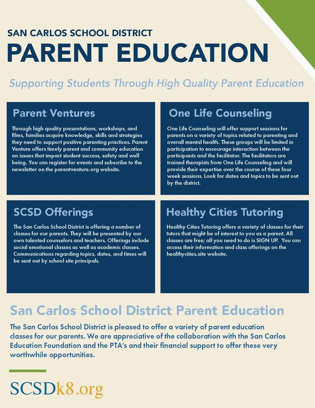 SCSD Parent Education Image