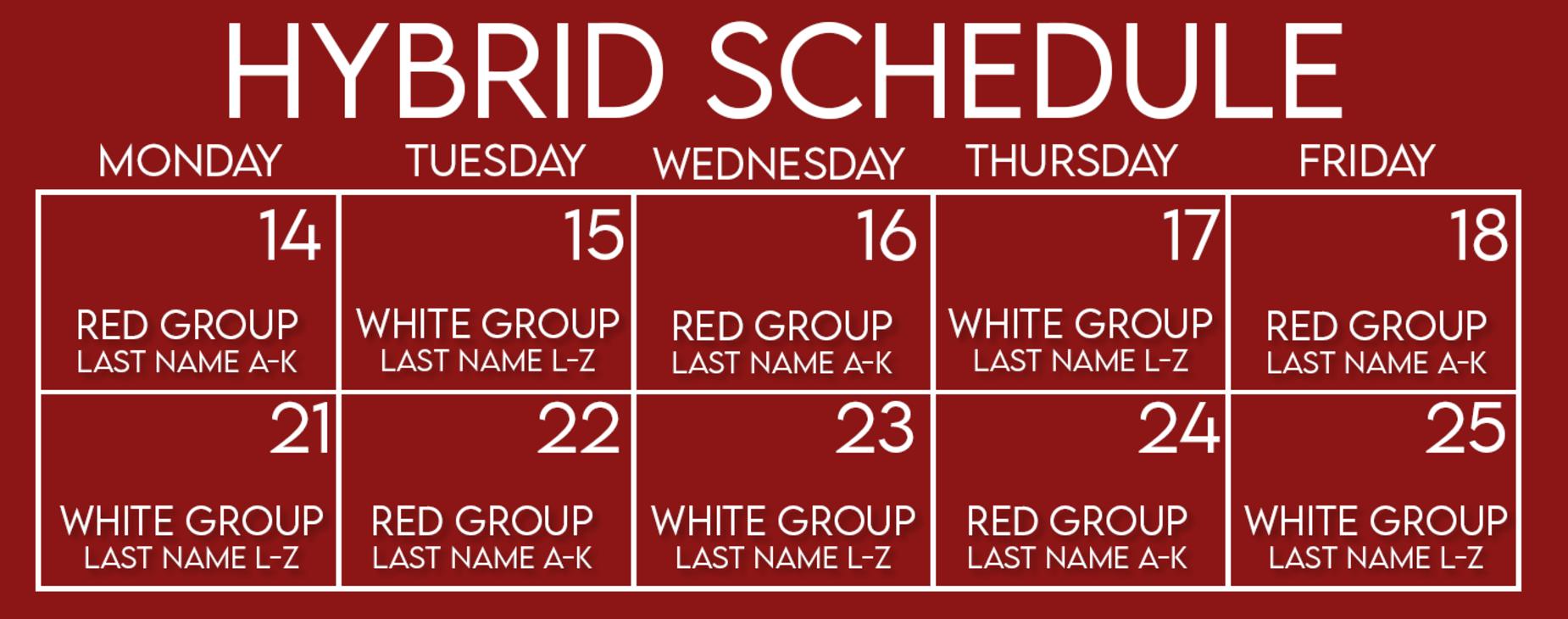 Week 3 & 4 Schedule