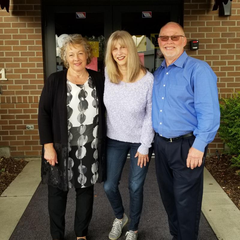 Debra White, Suzanne Scott and Larry Bush