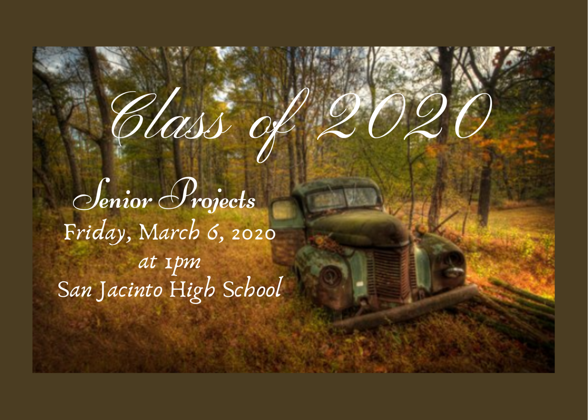 Class of 2020 Senior Projects