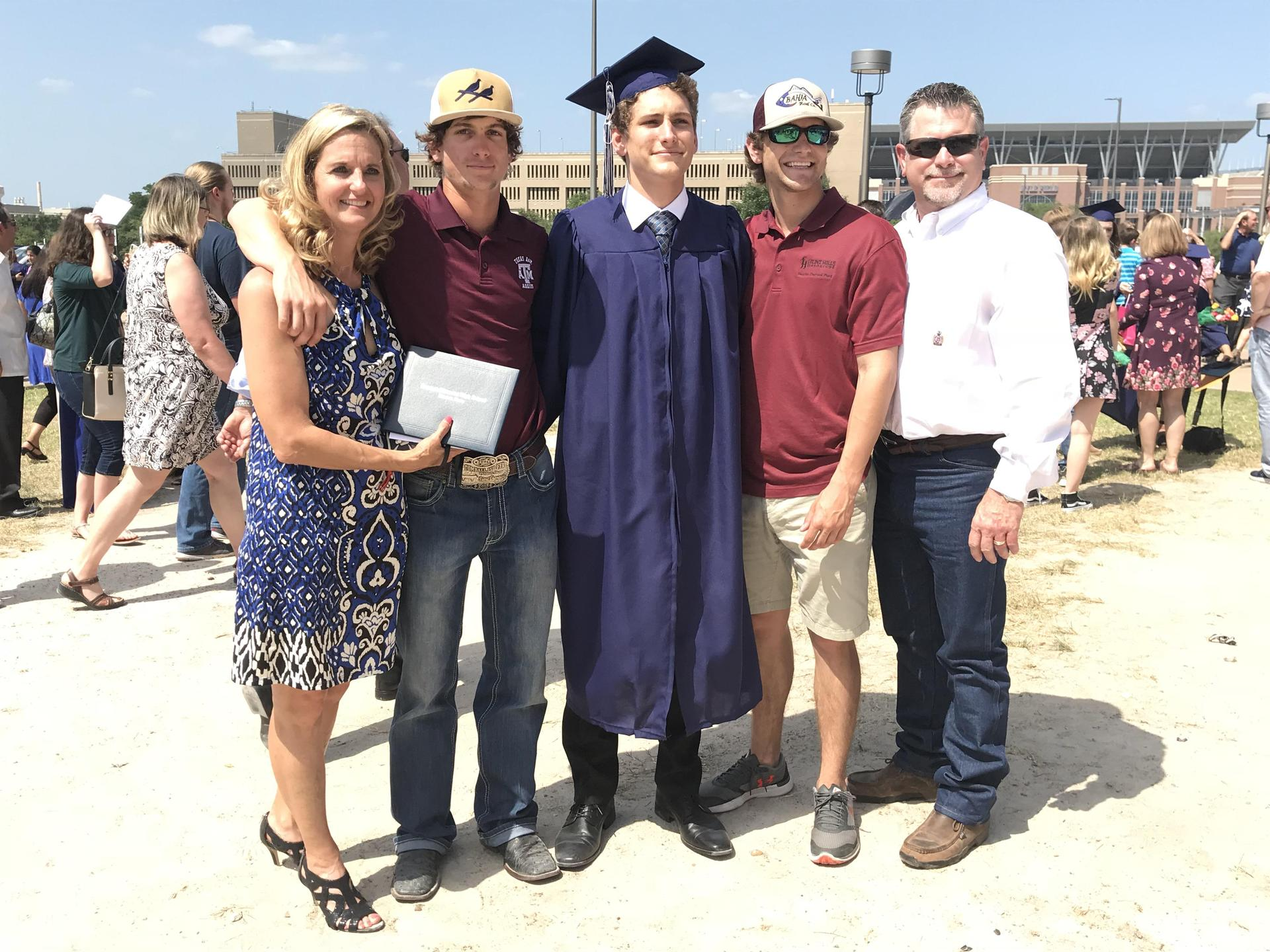 Ryans' graduation from TMHS, last one!