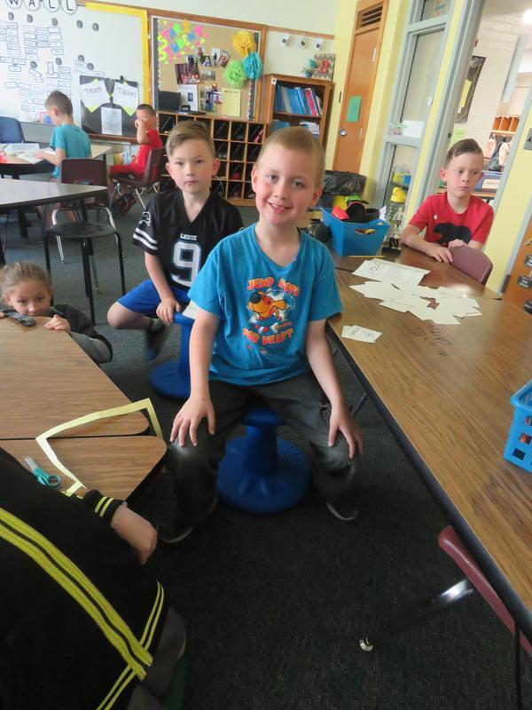 Students enjoy the wobble seats.