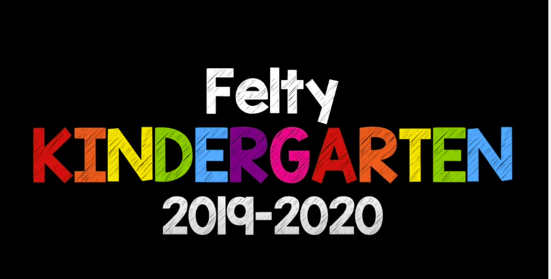 graphic reads congratulations kindergarten 2019-2020