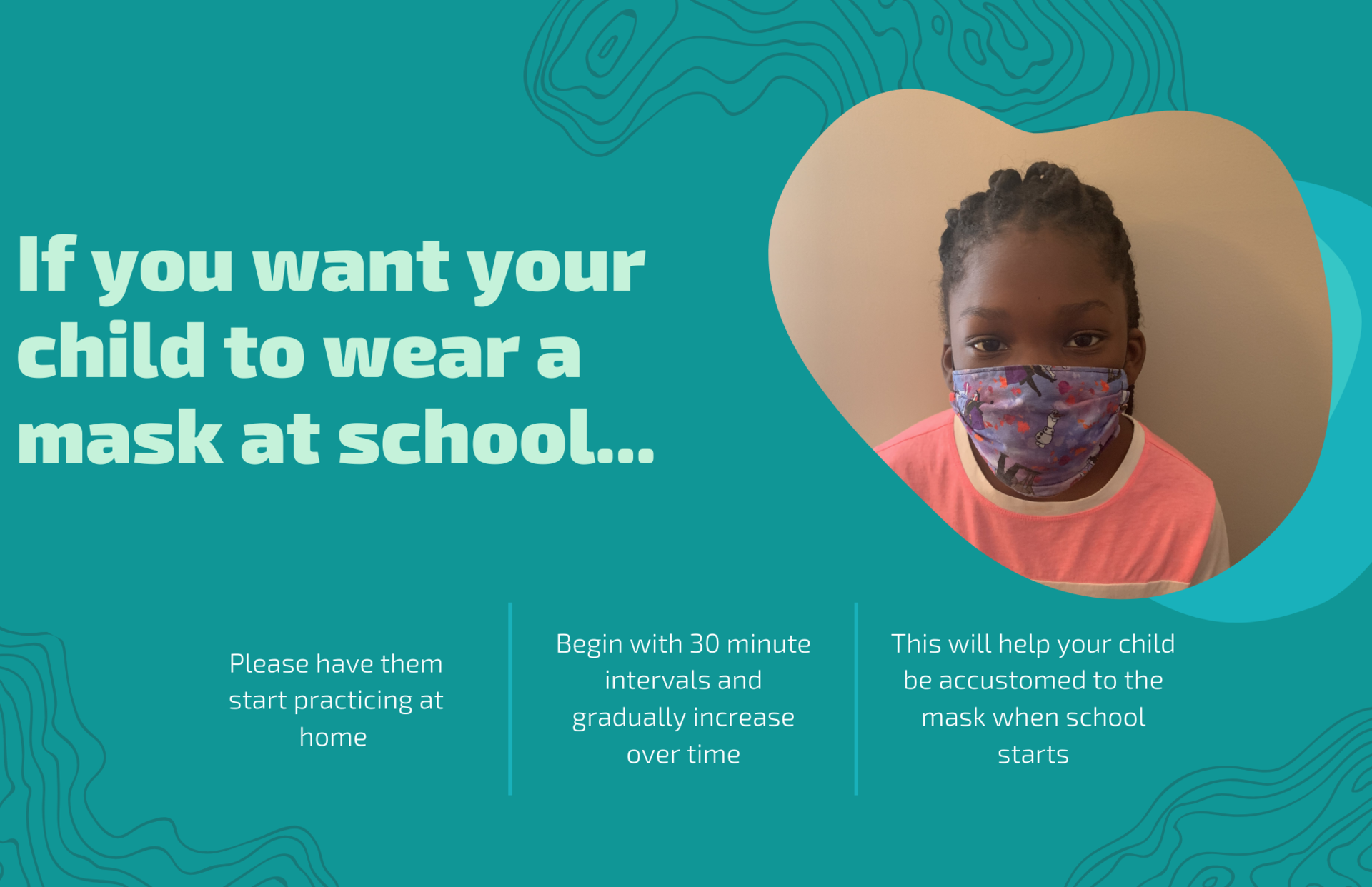 Child wearing mask